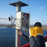 Монтаж система ГНСС мониторинга моста